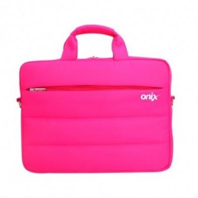 Maletín Mujer Porta Laptop ROSA 15,6 pulgadas 2 cierres externos Onix