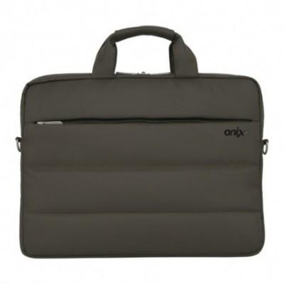Maletín Hombre Porta Laptop GRIS 2 cierres Onix