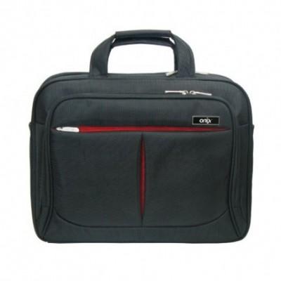 Maletín Ejecutivo Hombre Porta Laptop NEGRO 2 cierres y bolsillos laterales Onix