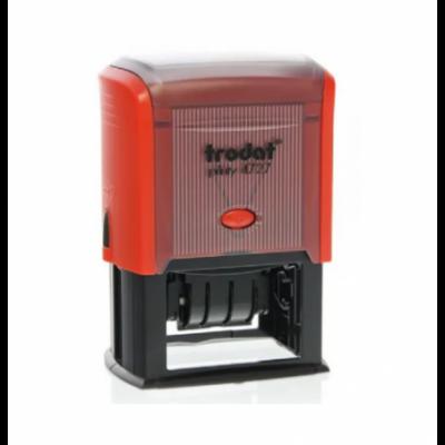 Sello Automático Fechador Printy 4727 60x40 mm rojo Trodat
