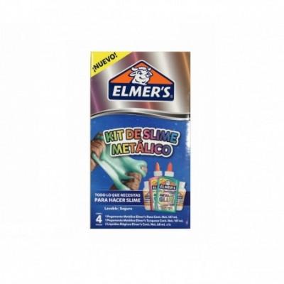 Kit de SLIME METALICO x4 piezas ELMERS