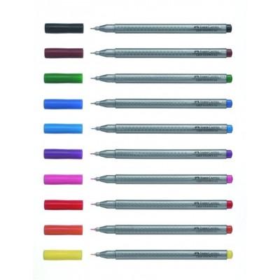 Marcadores con Grip ART FINEPEN x10 colores box Faber-Castell