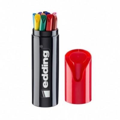Set Marcador al agua 1200 BLACK BOX x10 colores Edding