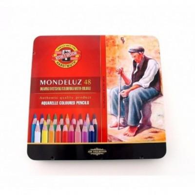 Lápices Acuarelables Mondeluz x48 colores Lata de lujo Koh-I-noor