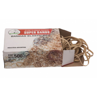 Bandas elásticas de 100 mm ANCHAS caja x500 grs Super Bands