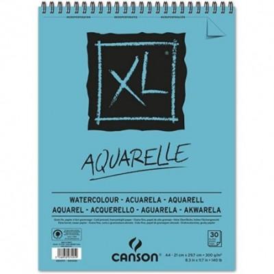 Block A4 Espiralado XL ACUARELLE 300 gramos x30 hojas Canson