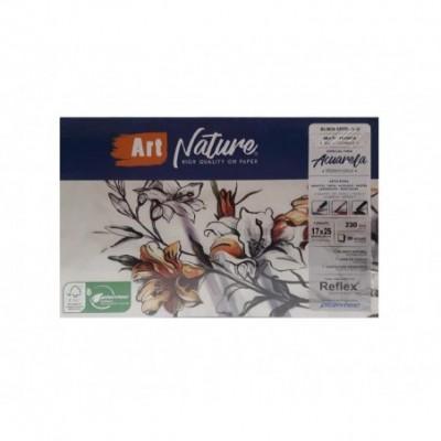 Block Multitécnica Acuarela 17x25 cm ART NATURE de 230 gramos x20 hojas Plantec