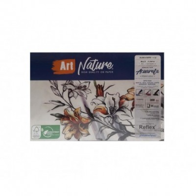 Block Multitécnica Acuarela 17x25 cm ART NATURE de 300 gramos x20 hojas Plantec