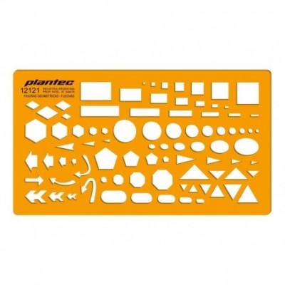 Plantilla Inyectada Profesional Figuras Geométricas -Flechas Mod. 2121 Plantec