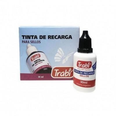 Tinta para sellos ROJO x30 ml Trabi