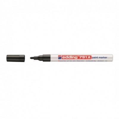 Marcador Permanente de Esmalte Sintético 791A (01) NEGRO punta cónica 1-2 mm Edding