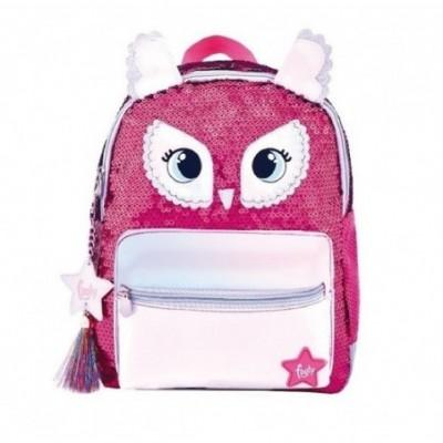 Mochila Espalda 12' BABY OWL con lentejuelas Footy