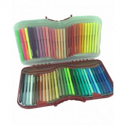 Marcadores Escolares punta cónica FIESTA x60 colores Faber-Castell