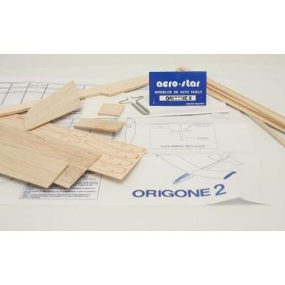 Avión tte. Origone 2 en bolsa p/armar Aerostar