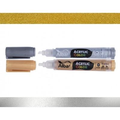 Marcador Acrylic Color 4 mm Metal Alba