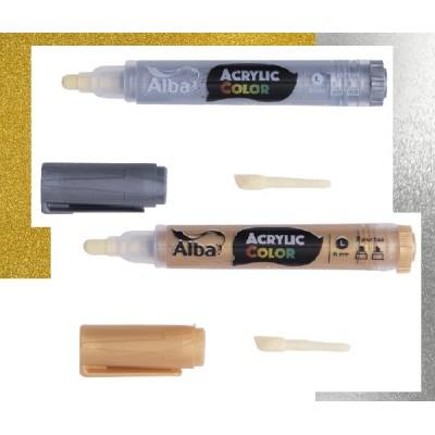Marcador Acrylic Color 6 mm Metal Alba
