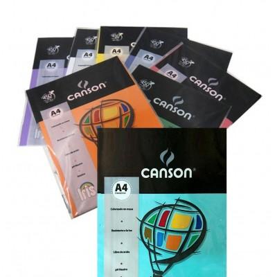 Papel A4 de 120 gramos de colores x 15 unidades Canson