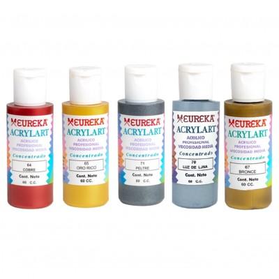 Acrílico Decorativo Acrylart Metalizado/ Perlado x60 ml Eureka