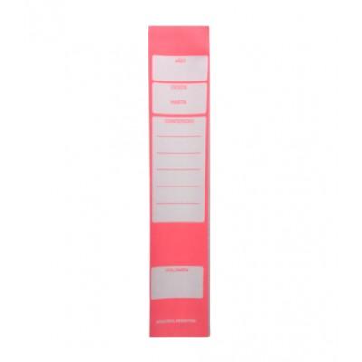 Lomos adhesivos para biblioratos x 24 unidades Rojo Jolly