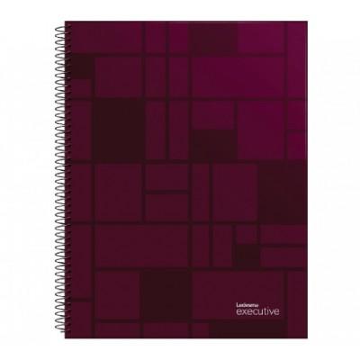 Cuaderno con espiral A4 tapa plastica Executive bordo x 84 hojas cuadriculado Ledesma