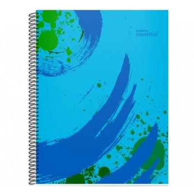 Cuaderno con espiral A4 tapa plastica Essential azul x 84 hojas cuadriculado Ledesma