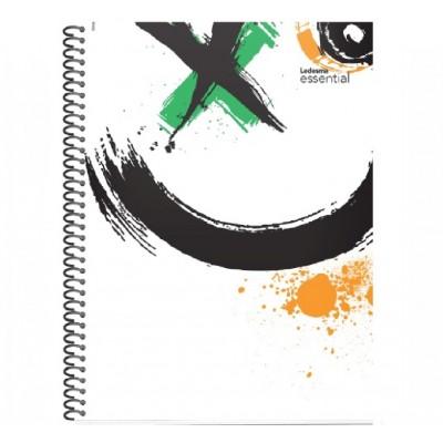 Cuaderno con espiral A4 tapa plastica Essential cristal x 84 hojas cuadriculado Ledesma