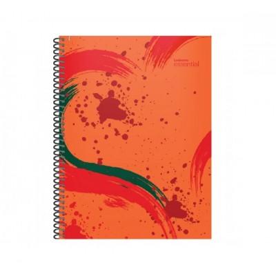 Cuaderno con espiral 16x21 cm tapa plastica Essential rojo x120 hojas rayado Ledesma
