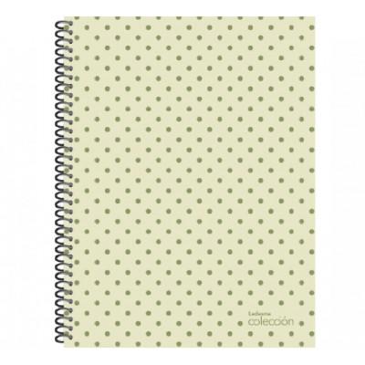 Cuaderno con espiral 21x27 cm tapa plastica Colección metal x 84 hojas liso Ledesma