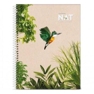 Cuaderno con espiral A4 tapa flexible NAT x 70 hojas cuadriculado Ledesma