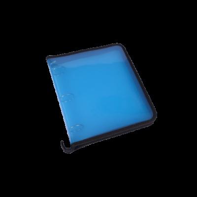 Carpeta 3 anillos 40 mm plastica lisa con cierre Rideo Azul