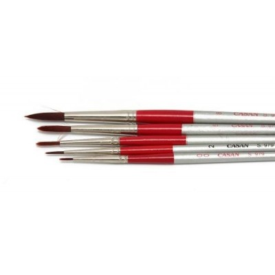 Pincel redondo toray rojo Serie 979 Casan desde N°00