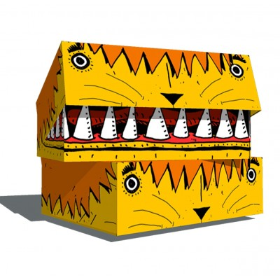 Caja archivo cartón legajo 12 León Paperland