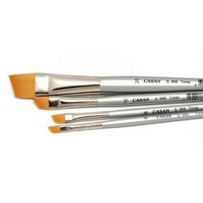 Pincel toray dorado angular mango corto Serie 988 Casan desde N°4