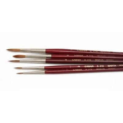 Pincel marta rojo red. Mango corto Serie 310 Casan desde N°000