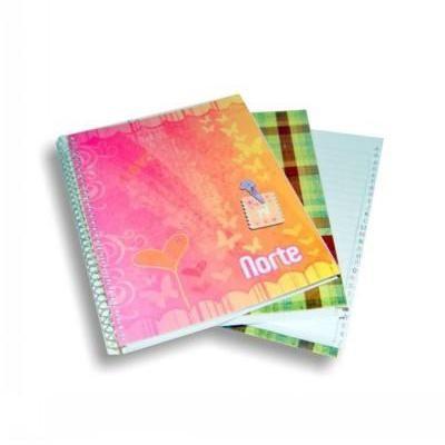Cuaderno con indice y espiral x84 hojas Norte