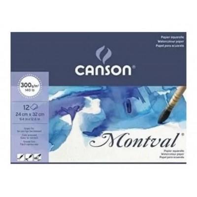 Block Montval GF 24x32 cm de 300 gramos x12 hojas Canson