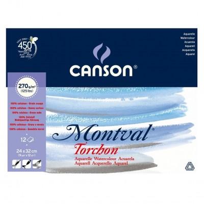 Block Montval Torchon GT 24x32 de 270 gramos x12 hojas Canson