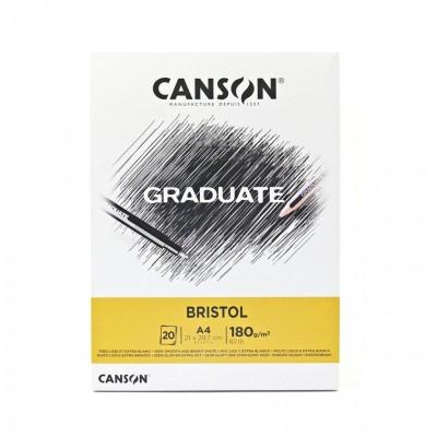 Block Ilustracion Bristol A4 de 180 gramos Graduate x20 hojas Canson