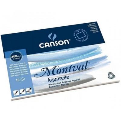 Block Montval GF 29,7x42 cm de 300 gramos x12 hojas Canson