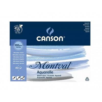 Block Montval GF 32x41 cm de 200 gramos x40 hojas Canson