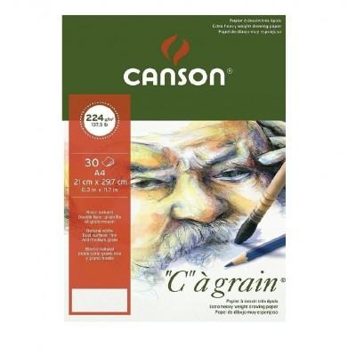 Block Dibujo C à Grain A4 de 224 gramos x30 hojas Canson