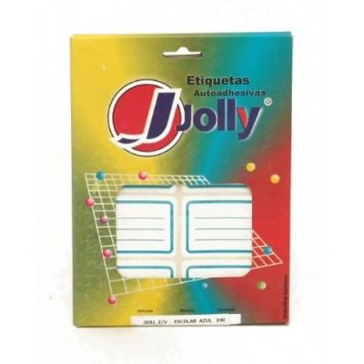 Caja de etiquetas escolar AZUL x 240 unidades Jolly