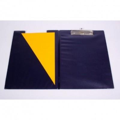 Portablock A4 de PVC con tapa y bolsillo interno Azul Liggo Trade
