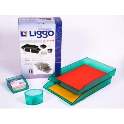 Set de escritorio oficio Verde Liggo Trade