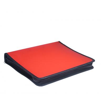 Carpeta A4 2 anillos de 40 mm Rojo plastica lisa con cierre Rideo