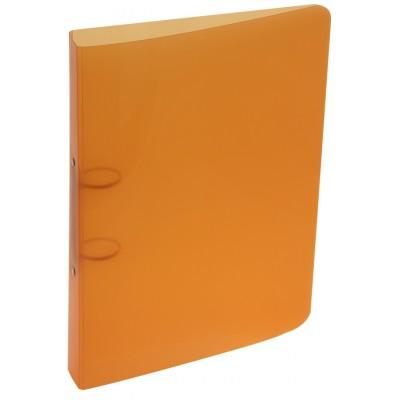 Carpeta oficio 2 anillos de 40 mm plastica lisa Naranja Rideo