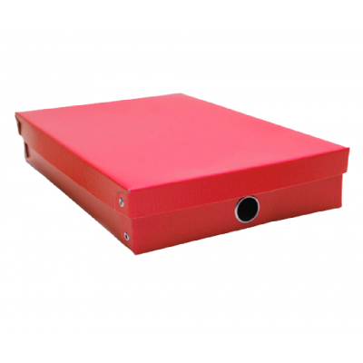 Caja de carton oficio 24x37x7 cm con remaches de colores Les Cahiers