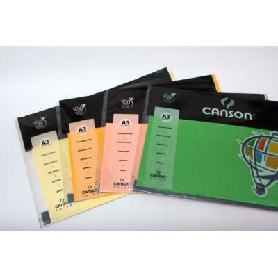 Cartulina Iris A3 de 120 gramos Canson Pack 10 hojas x colores