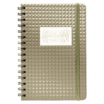 Cuaderno A5 Bullet Journal Diamante Dorado Mooving