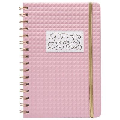 Cuaderno A5 Bullet Journal Diamante Rosa Mooving